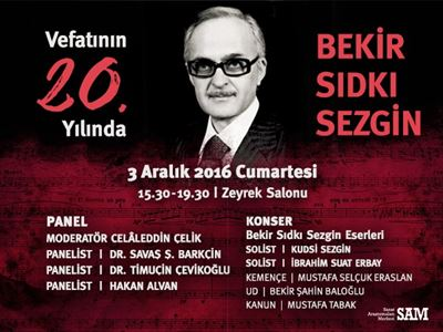 In the 20th Year of His Death Bekir Sıdkı Sezgin